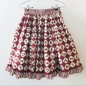 07b56d8cdf ... red girly note skirt ...